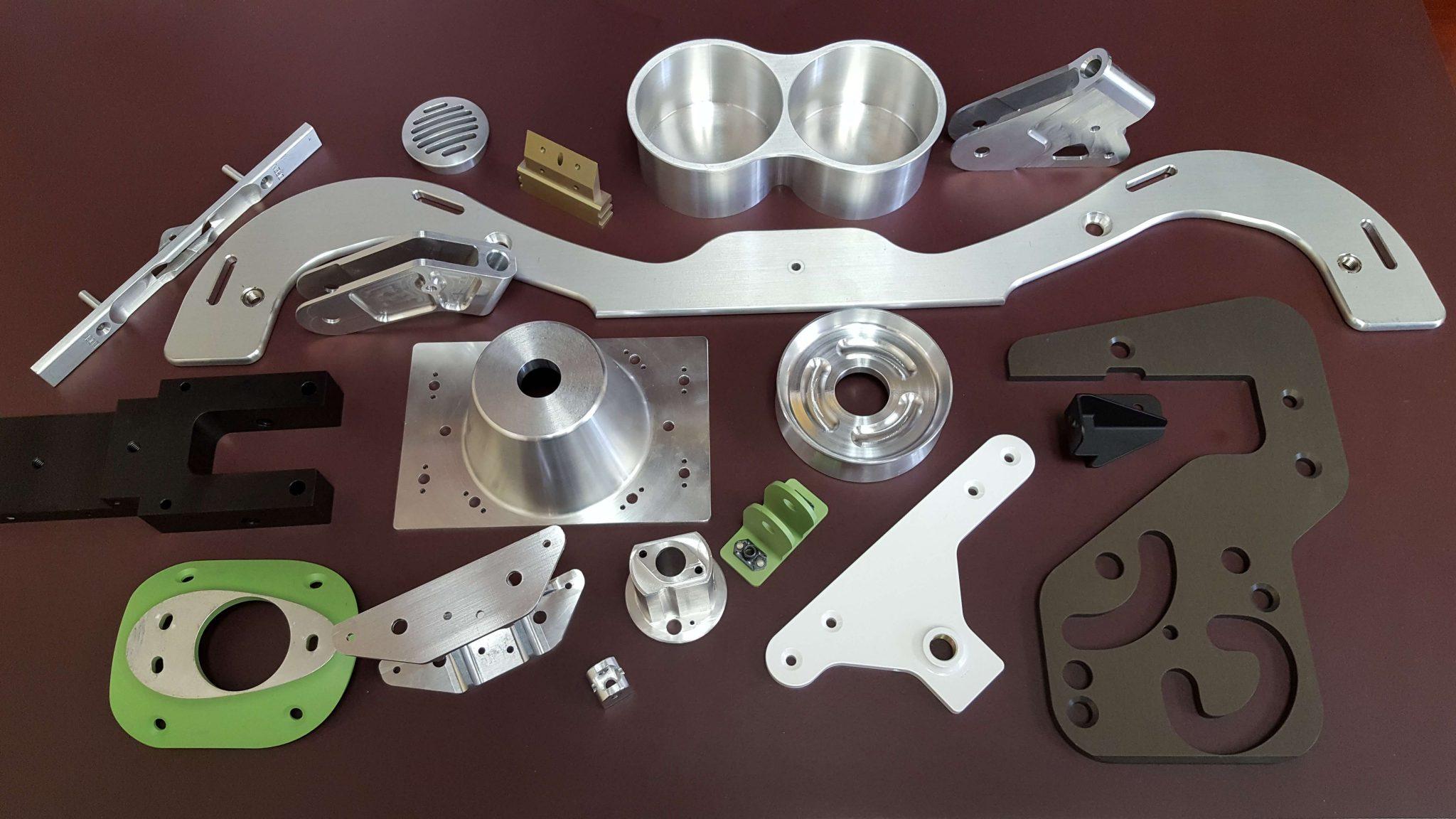 various aluminum parts